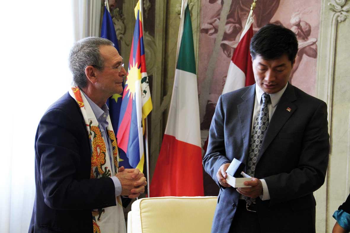 Consiglio PAT Bruno Dorigatti premier tibetano Lobsang Sangay 1