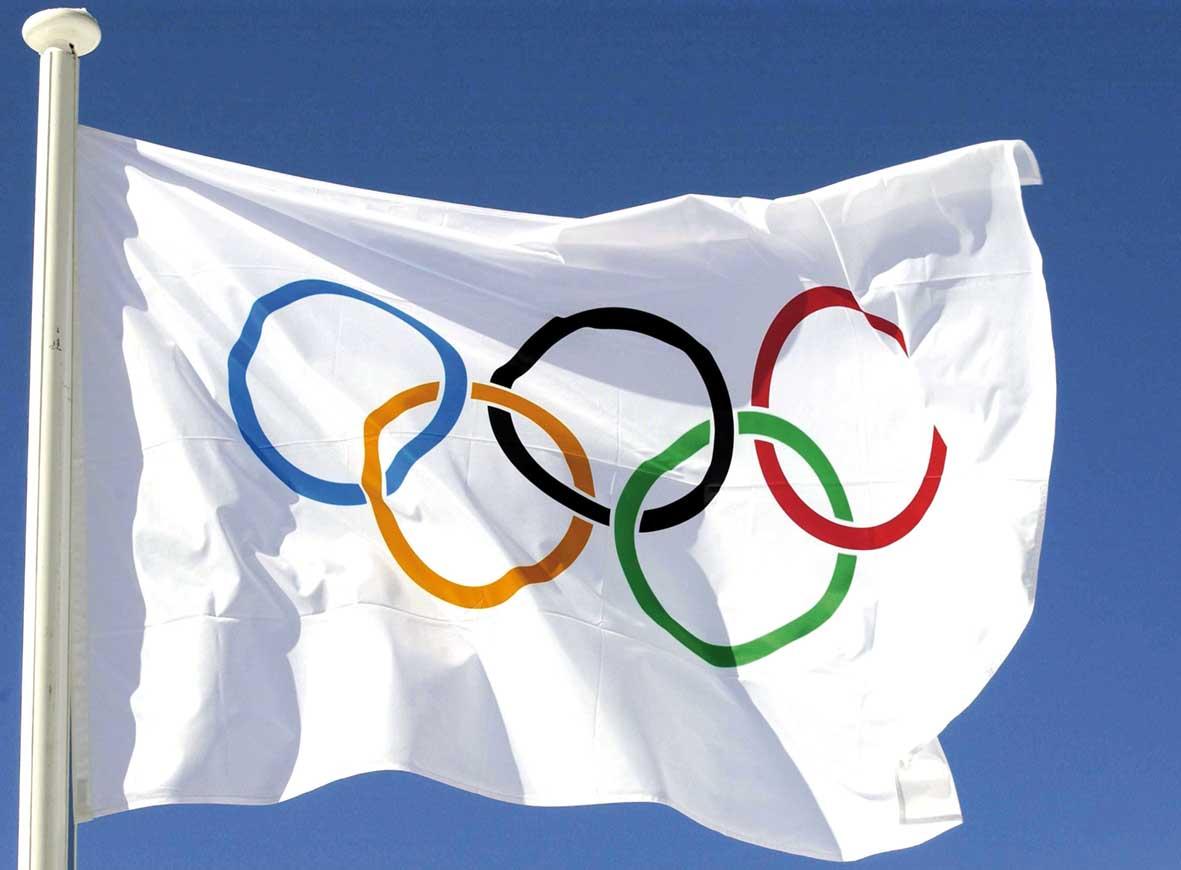 olimpiadi bandiera olimpica