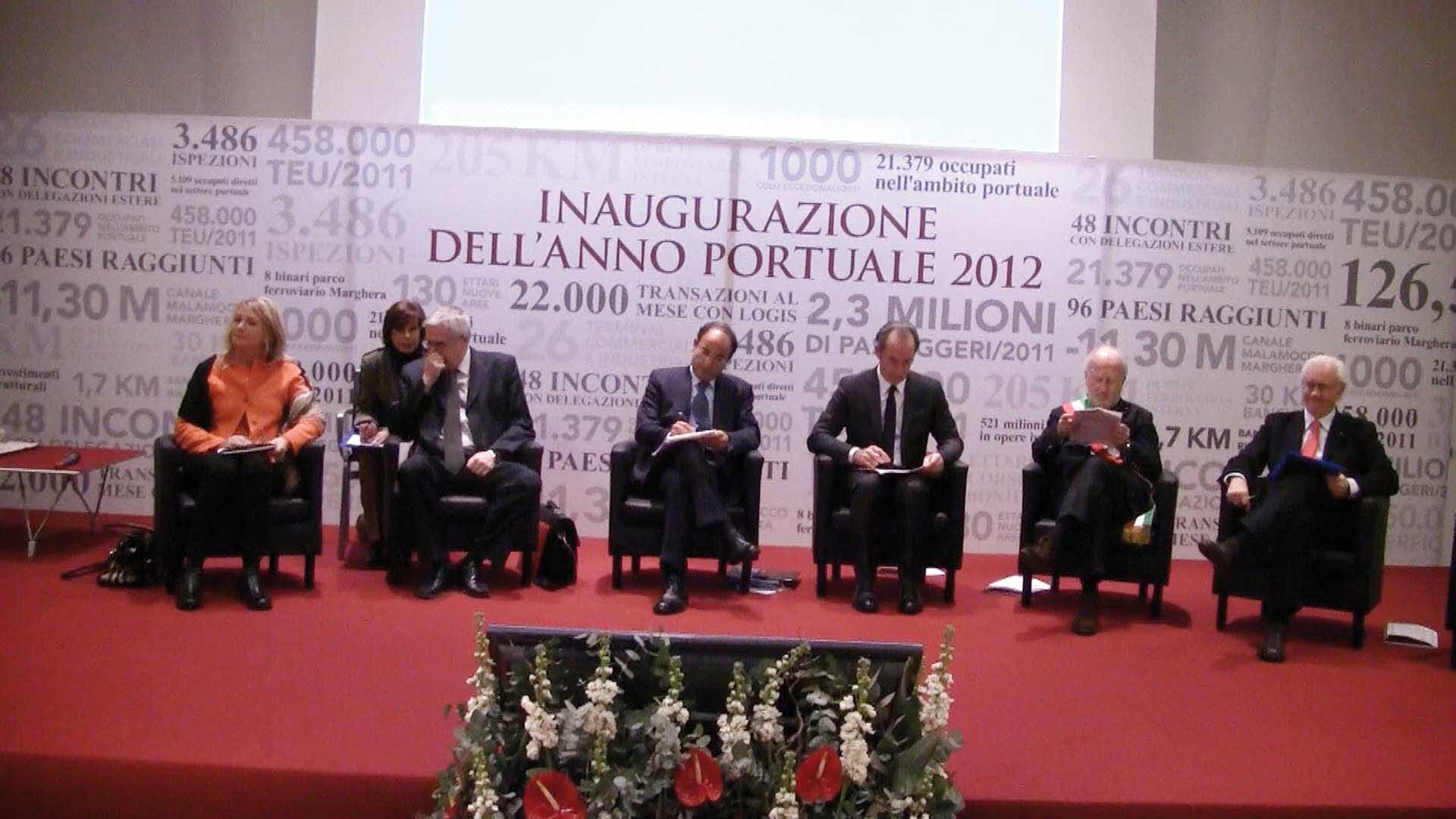 venezia inaugurazione anno portuale 2012