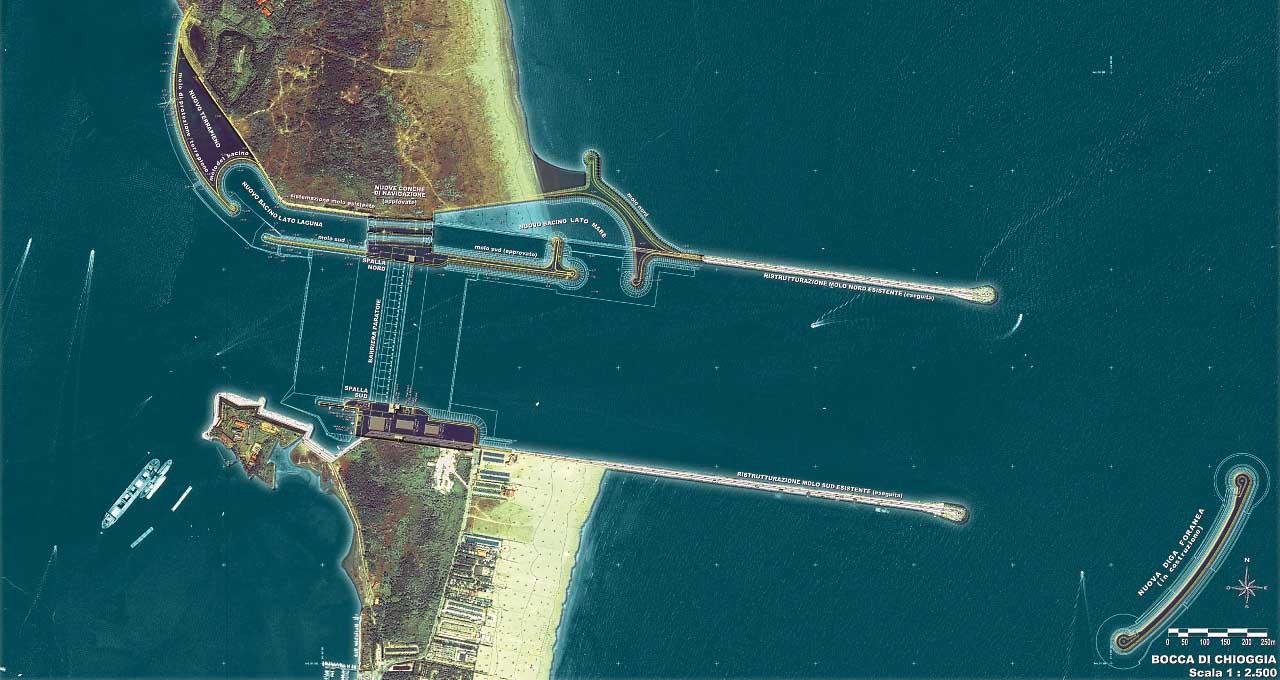 MOSE progetto Chioggia Bocca di Porto