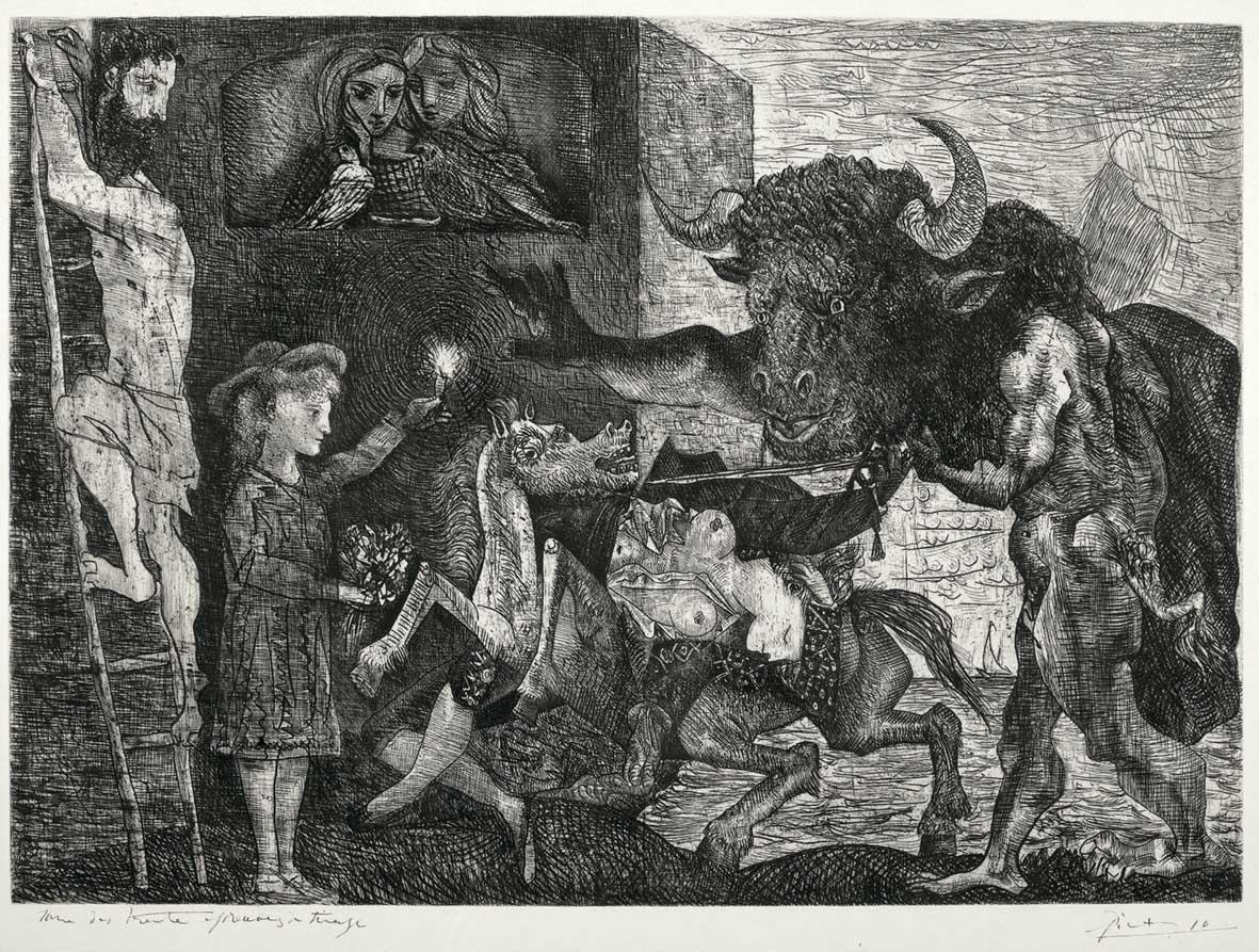 Pablo Picasso La Minotauromachia 1935 Acquaforte e raschietto Collezione privata Succession Picasso 1