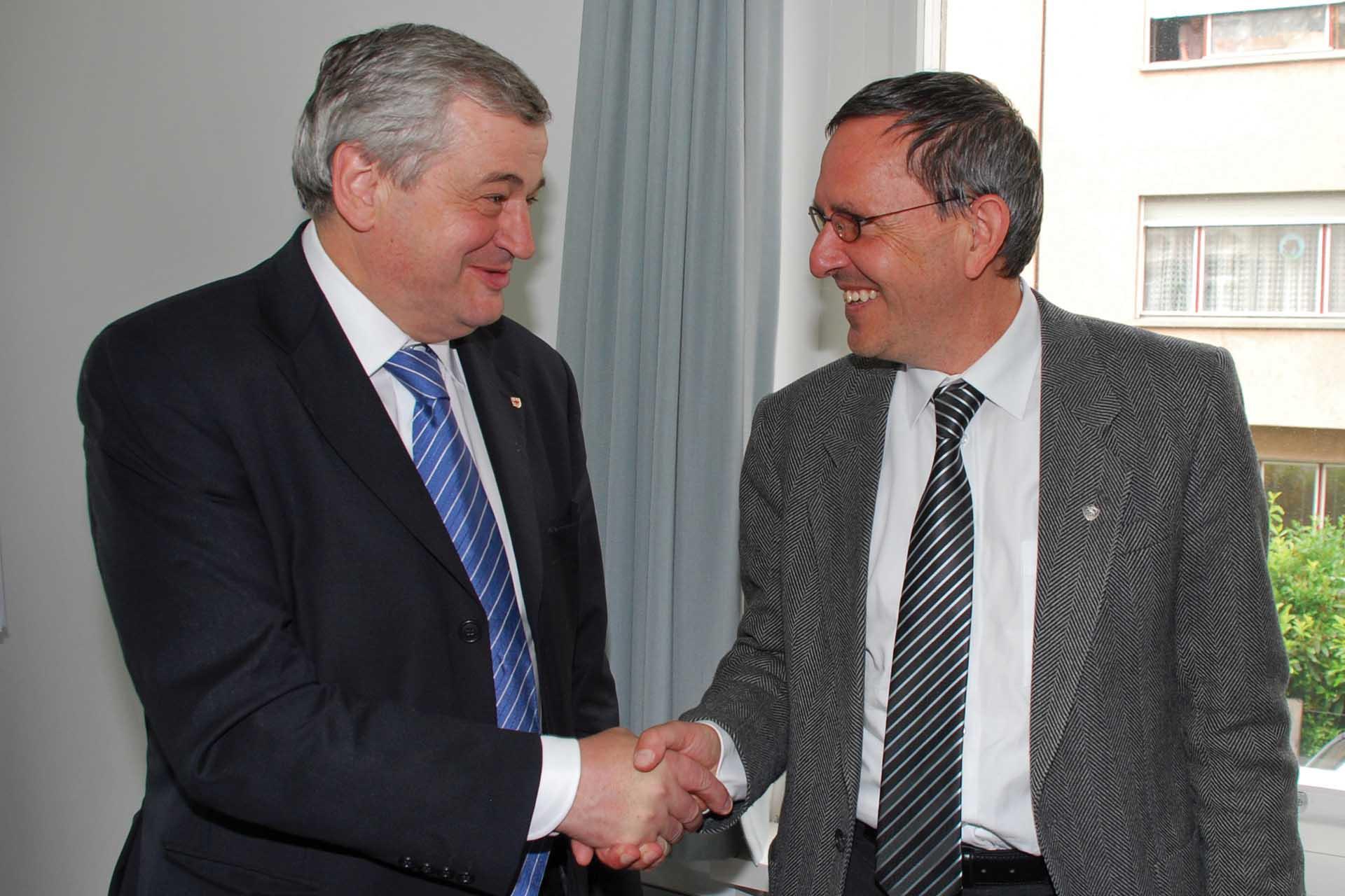 Florian Mussner con il collega del Cantone dei Grigioni Martin Jäger 1