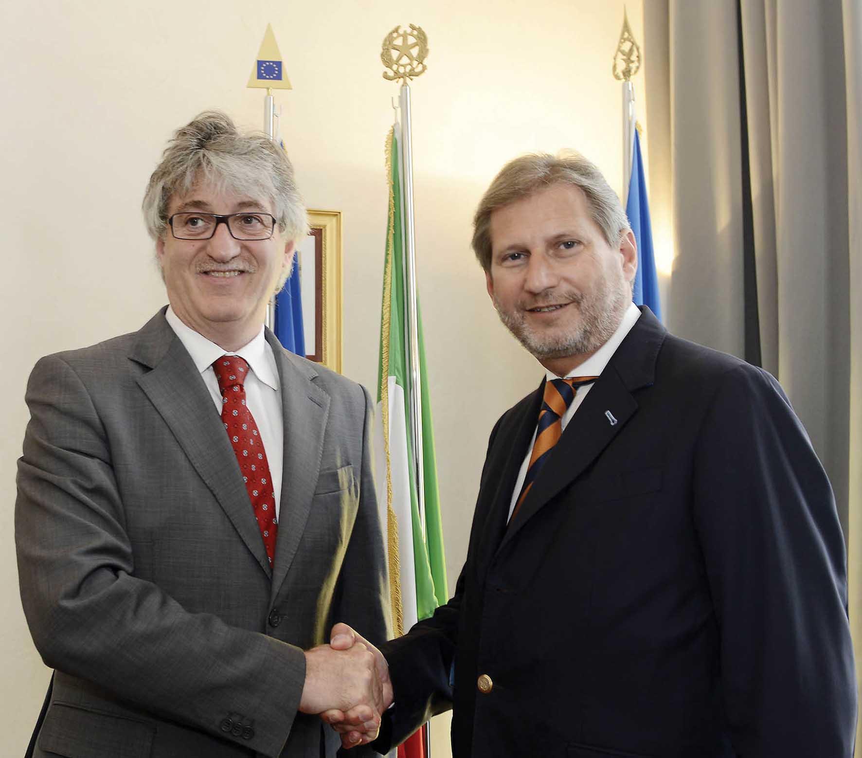 FVG Renzo Tondo commissario UE politiche europee Johannes Hahn 1