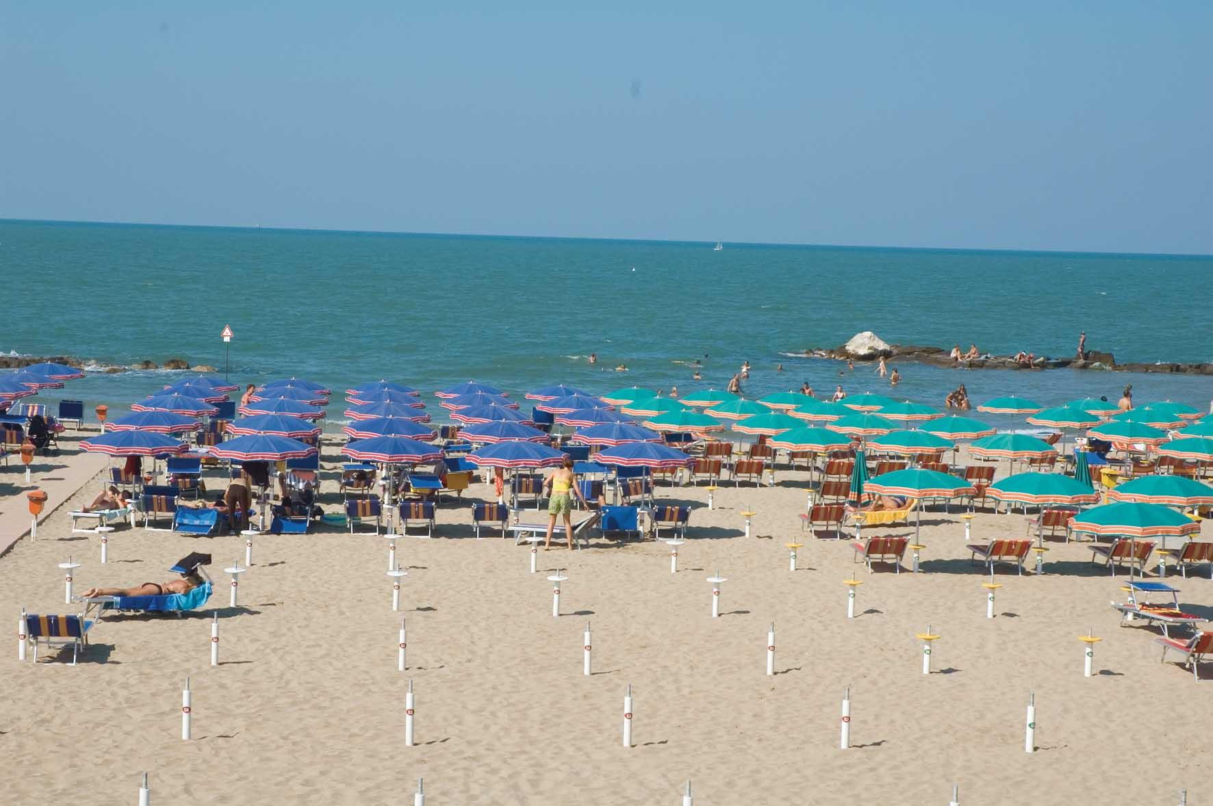 presenze sulle spiagge Cattolica SpiaggiaOmbrelloni 1