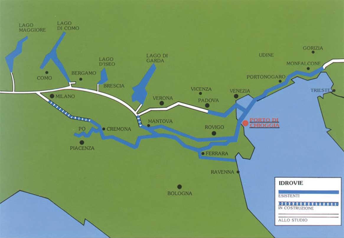 mappa idrovie italia nord 1