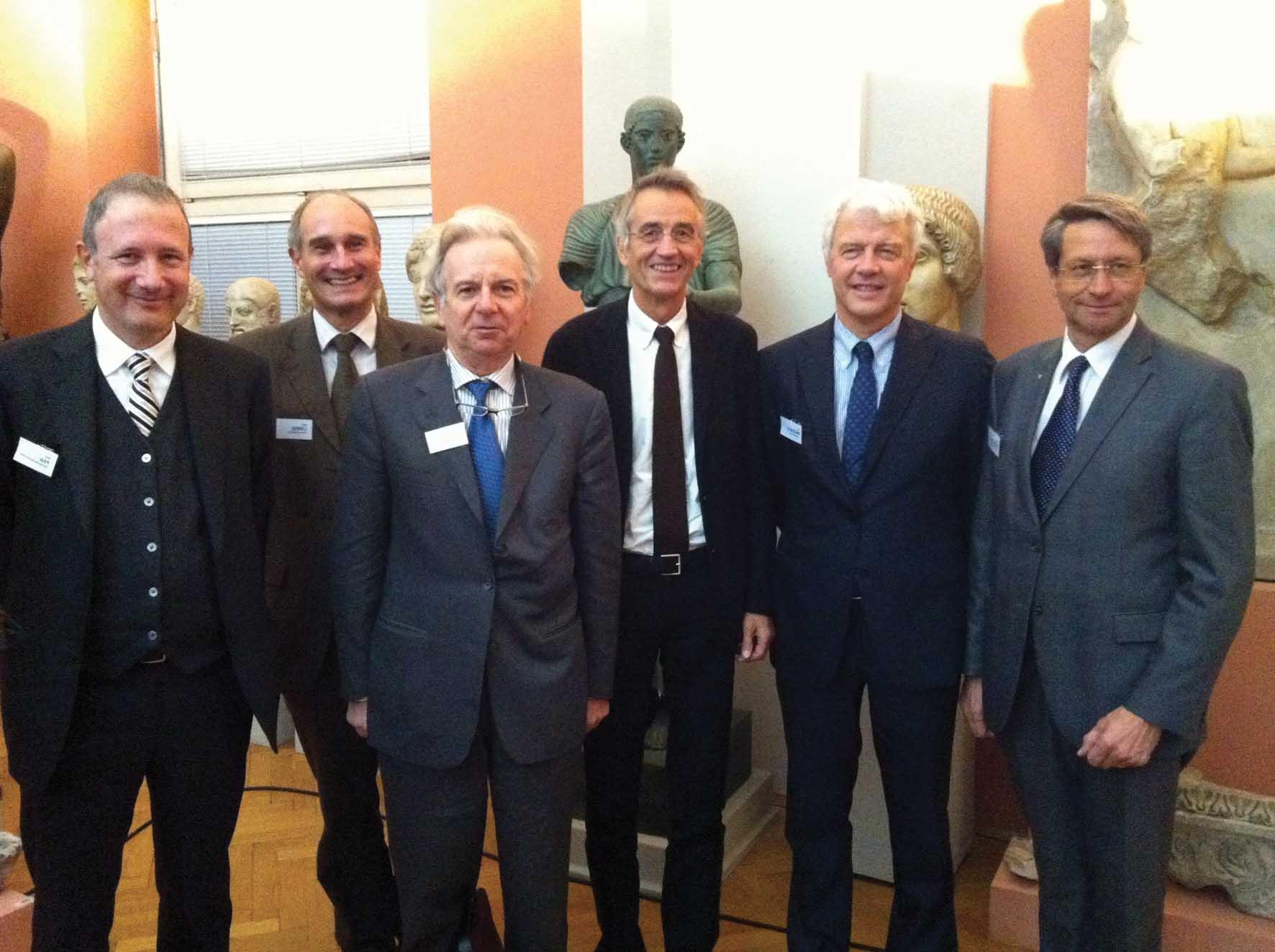Innsbruck industria e università da sx Reinhard Schretter Paolo Mazzalai Tilmann Mark Davide Bassi Walter A. Lorenz Stefan Pan info file 1