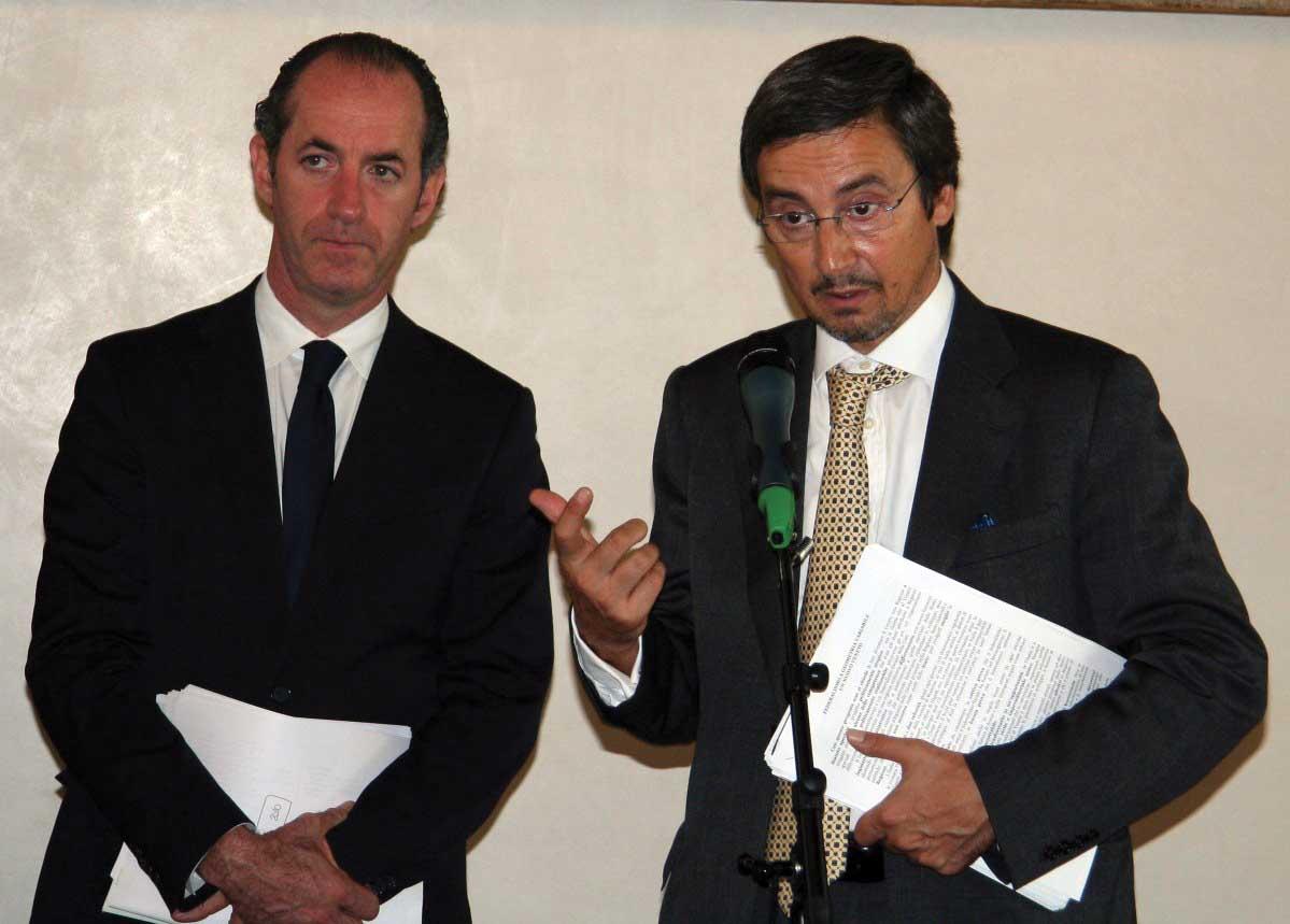 veneto Luca Zaia e Luca Antonini riordino assetto istituzionale 1