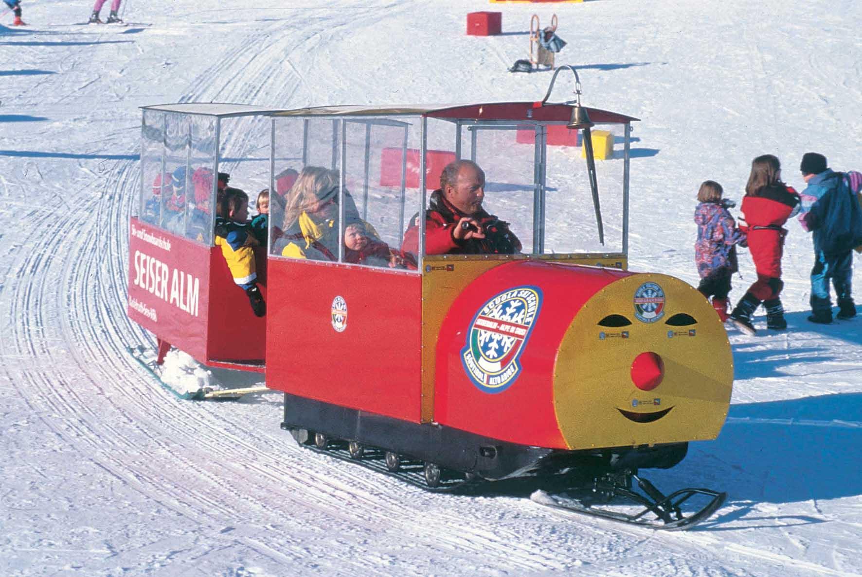 trenino bambini su sci 1