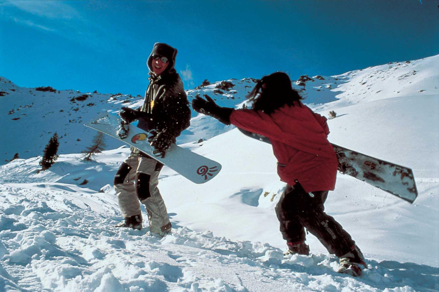 Alto Adige Sudtirolo sciatori snowboard foto tappainer 1
