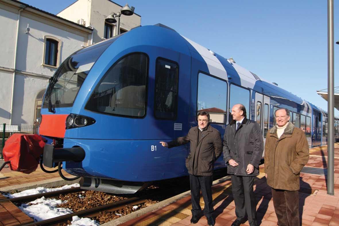 Chisso Gambato Marcolin sindaco e piove di sacco il nuovo treno Stadler004 1