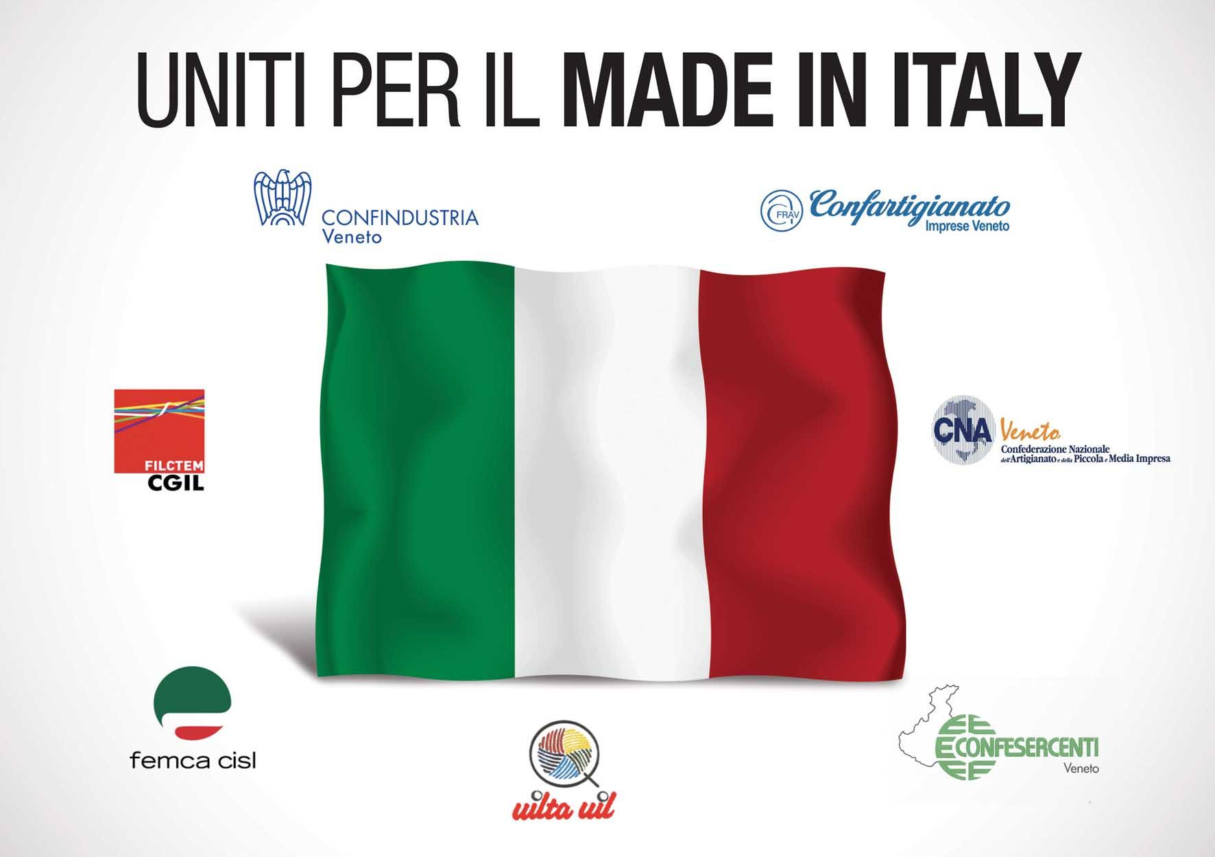 logo tutti uniti per il made in italy moda veneto 1