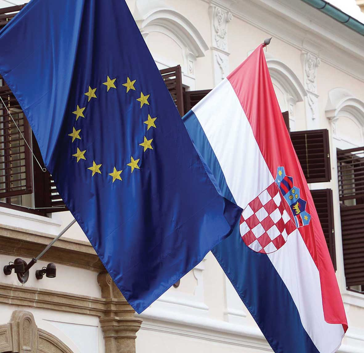 bandiera croata e europea 1