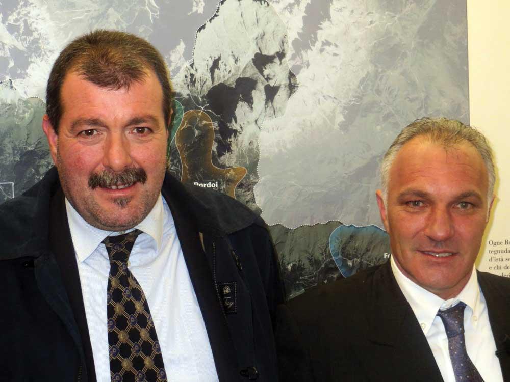 Da sinistra pres fed coop tn Rigotti e pres caseificio fassa Paolo Brunel 1