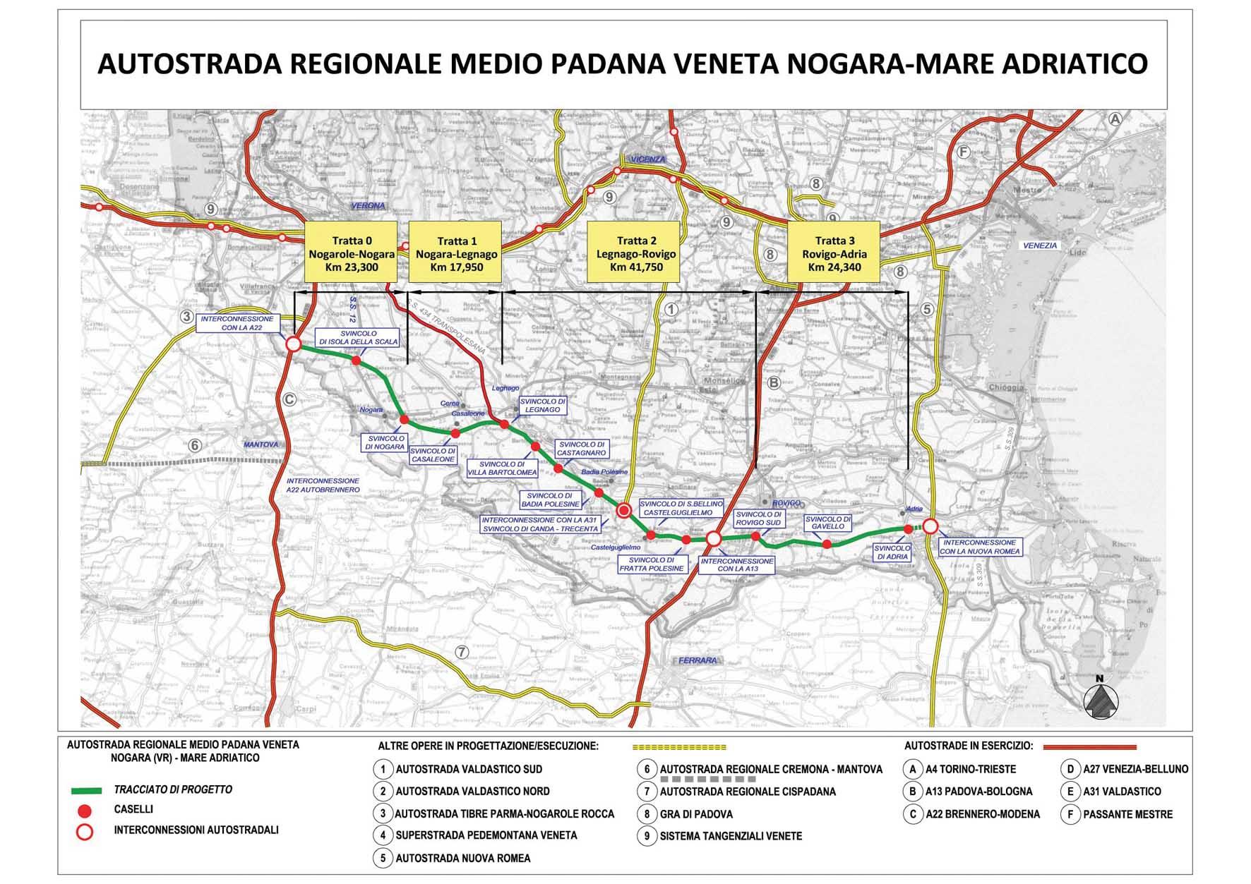 Tracciato autostrada Nogara - Mare allegato promemoria AMPV dicembre 2011-001 1