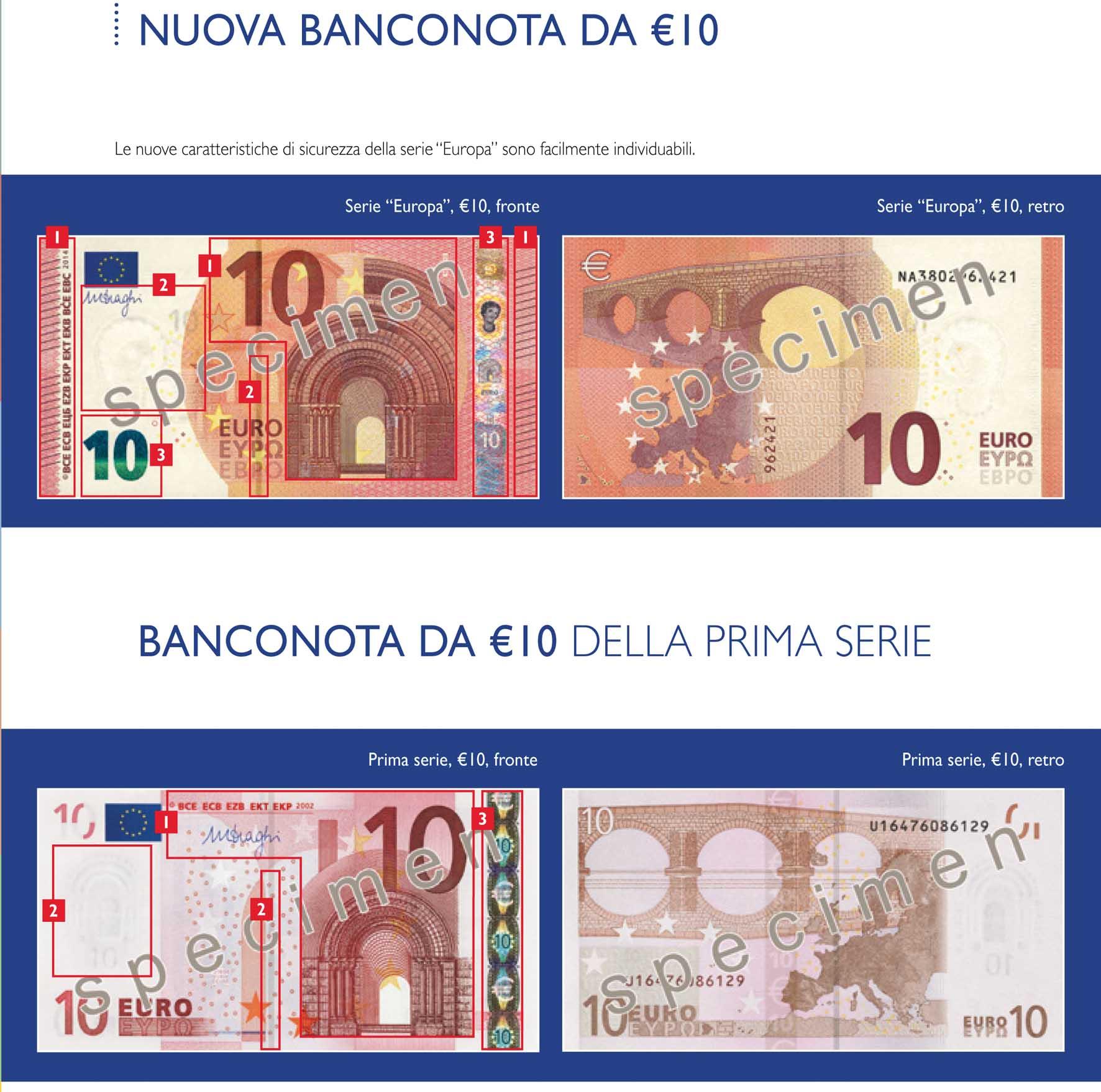 Euro nuova banaconota da 10 1