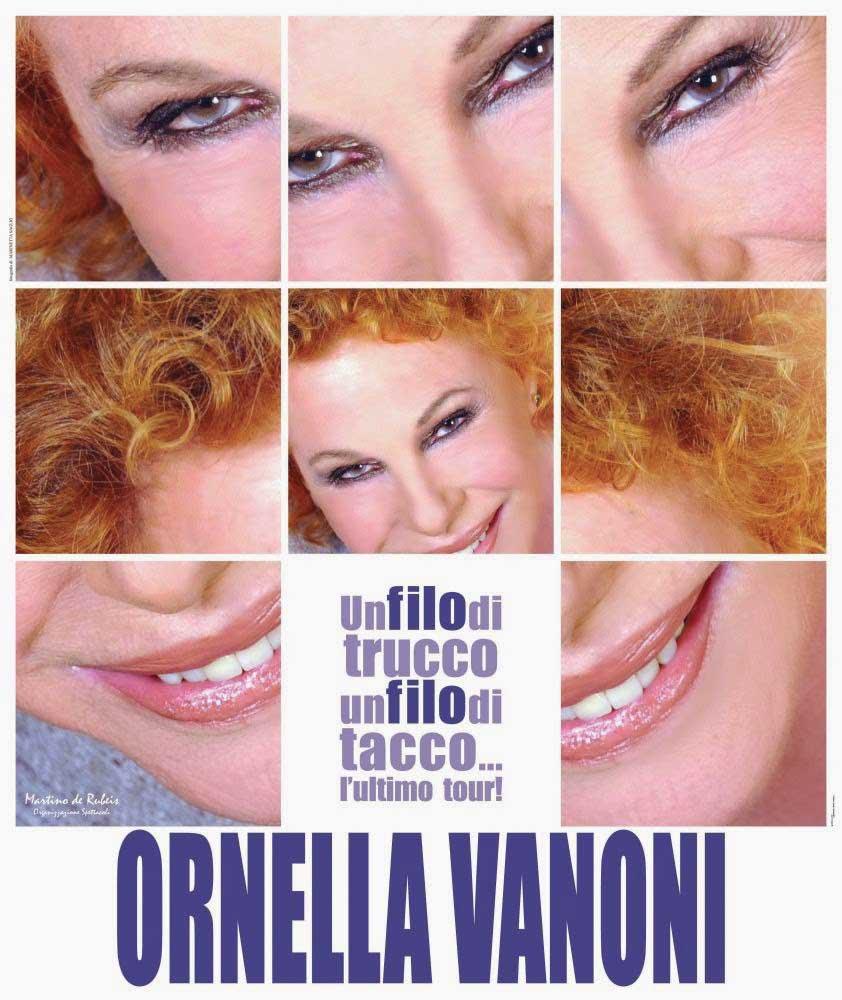 Ornella Vanoni Un filo di trucco un filo di tacco . .lultimo tour Locandina cut bassa 1