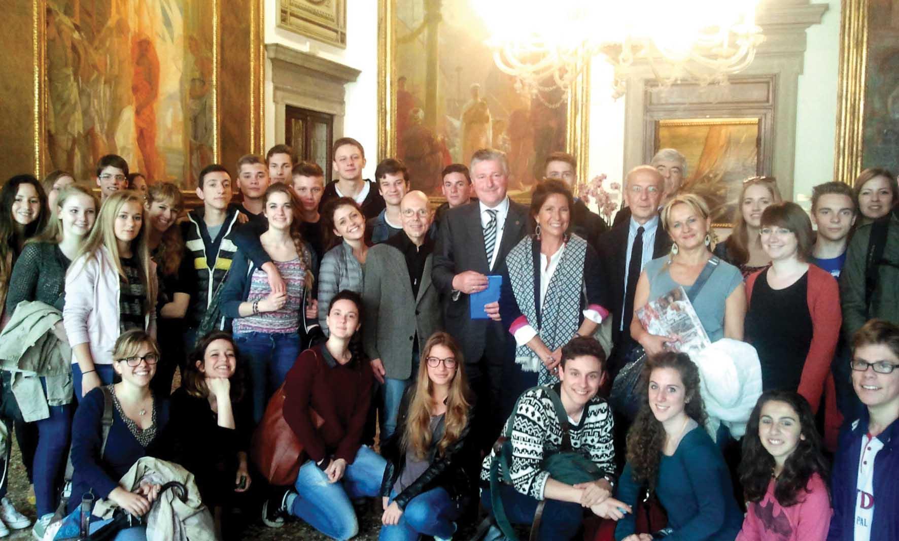 provincia venezia gemellaggio studenti liceo benedetti con liceo tedesco gauss 1
