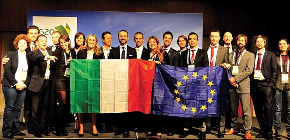 La delegazione italiana a Sydney