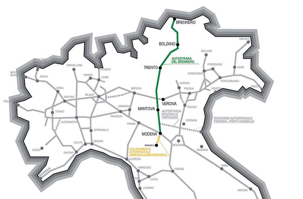 A22 iniziative industriali nuove proposte autostradali 1