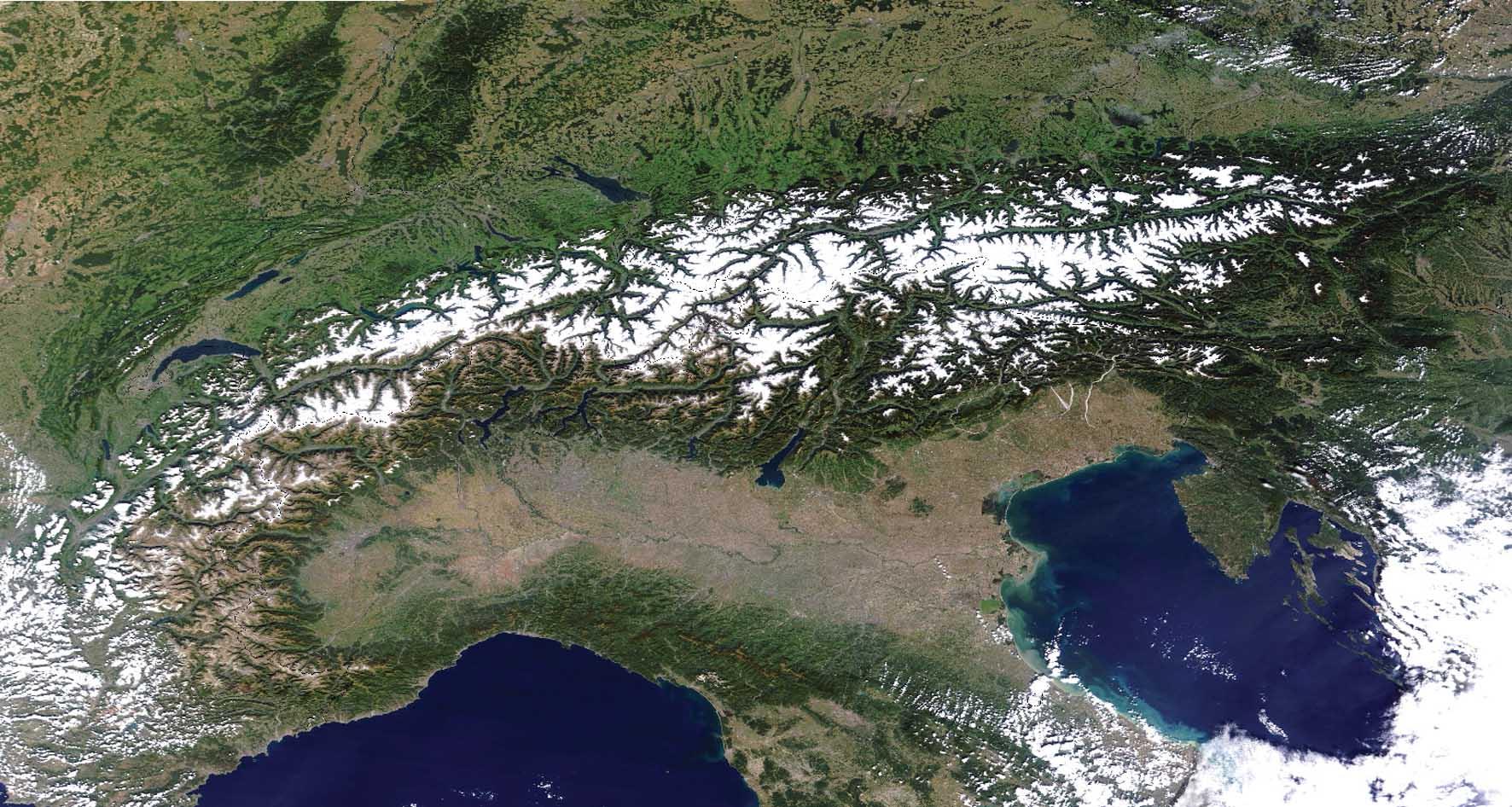alpi viste dal satellite 2 1