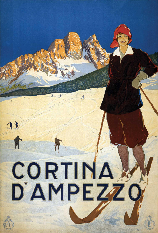 Cortina dAmpezzo poster turistico Enit 1920 1
