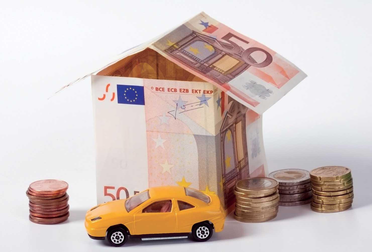 euro soldi tasse assicurazioni casa auto