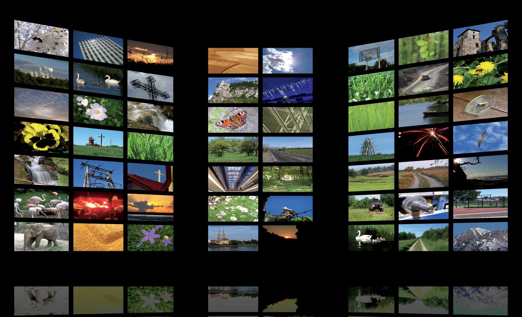 televisione videowall FbySh