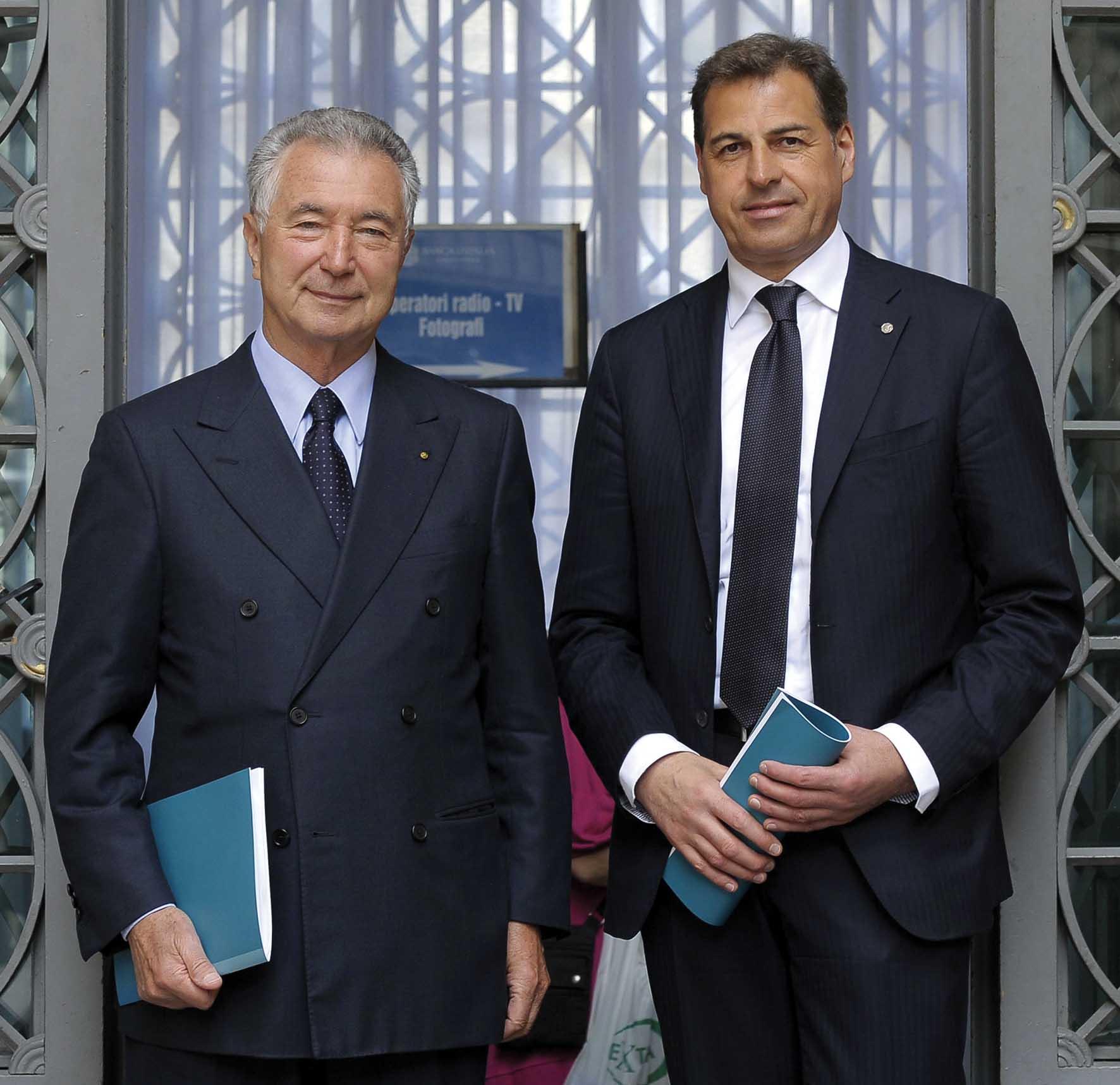 Banca popolare Vicenza Gianni Zonin Presidente Samuele Sorato Direttore Generale