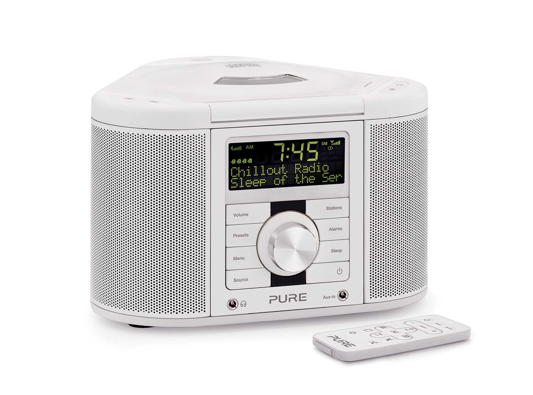 Pure Chronos CD Series2 White con telecomando