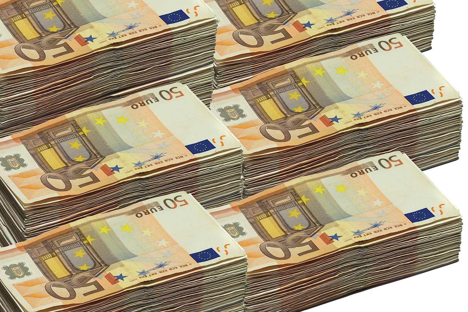 euro soldi mazzette 50