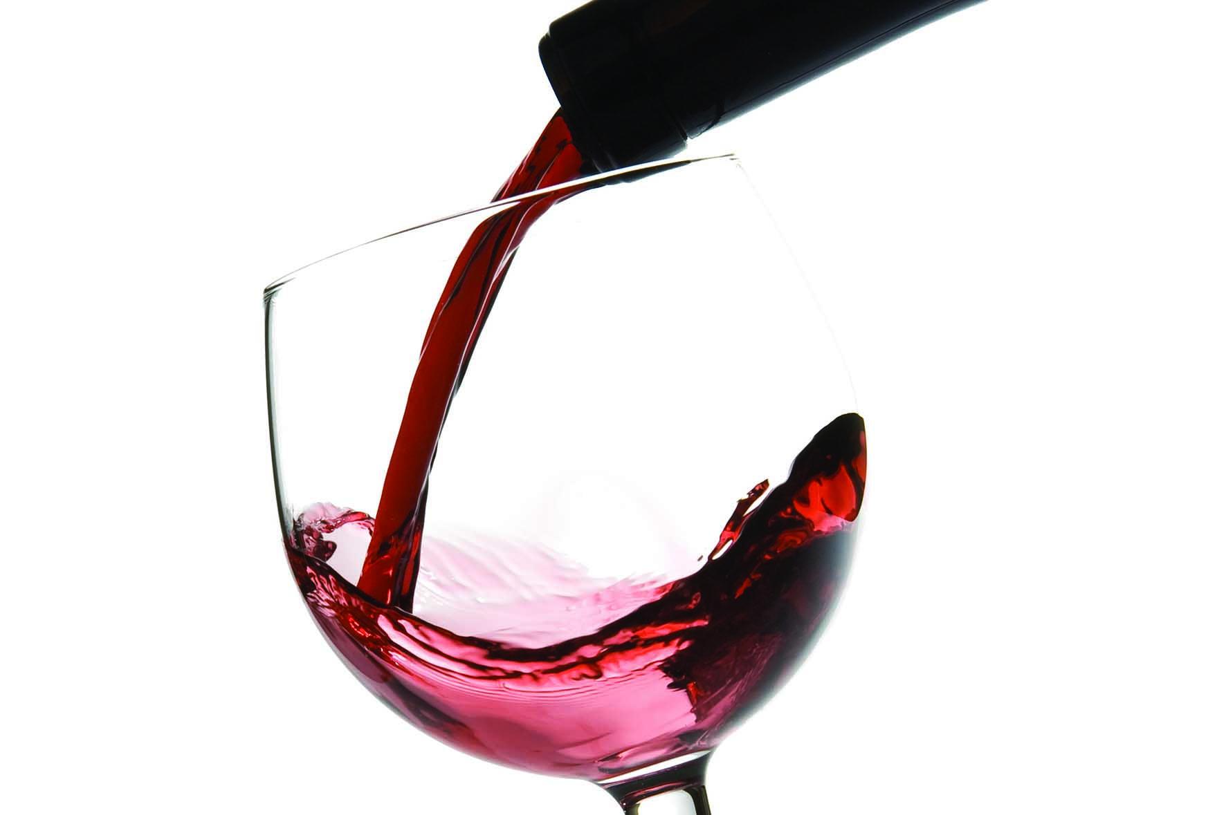 Vino bicchiere versamento da bottiglia Fotolia 4595028