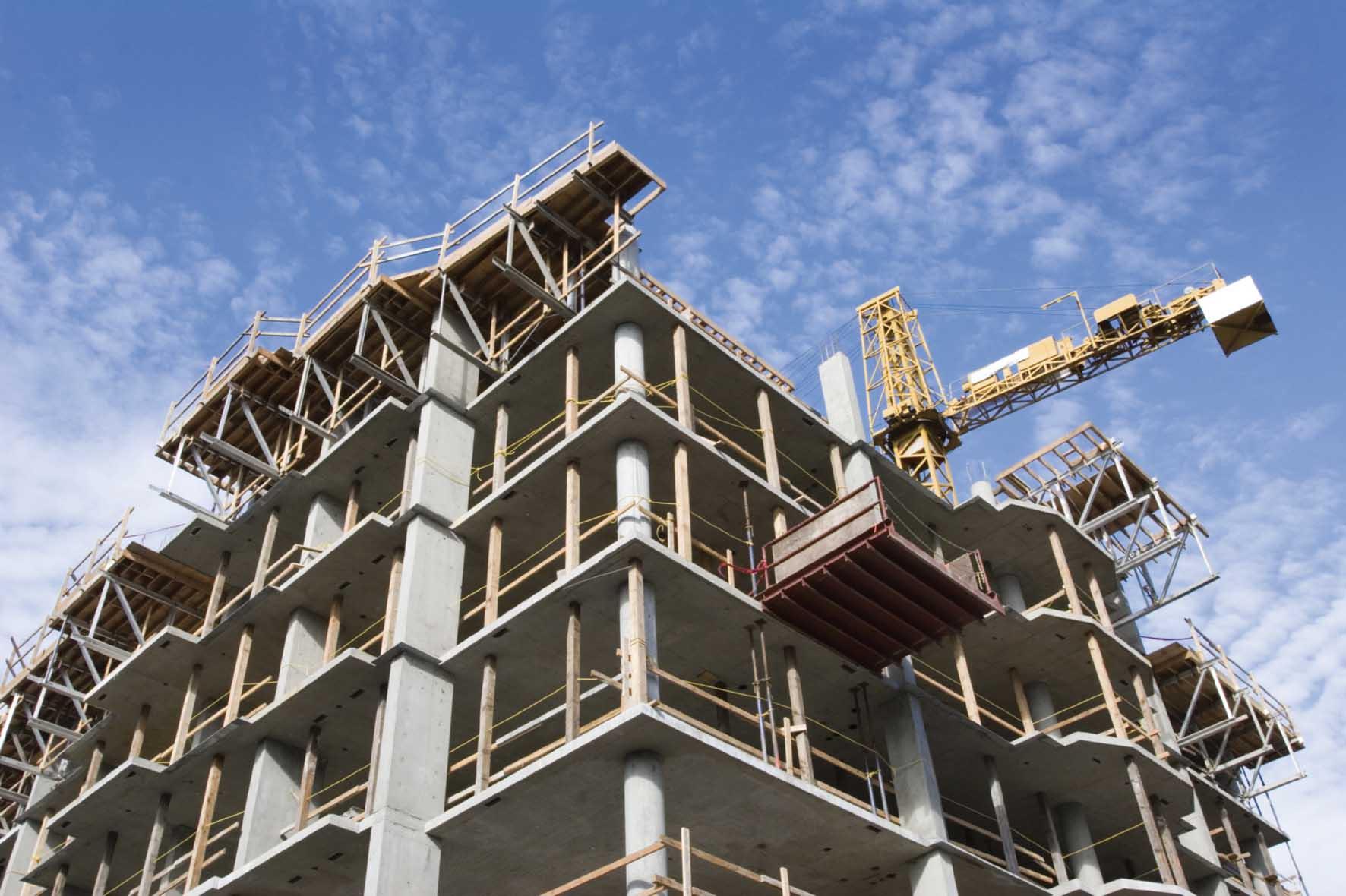 casa palazzo in costruzione cemento armato