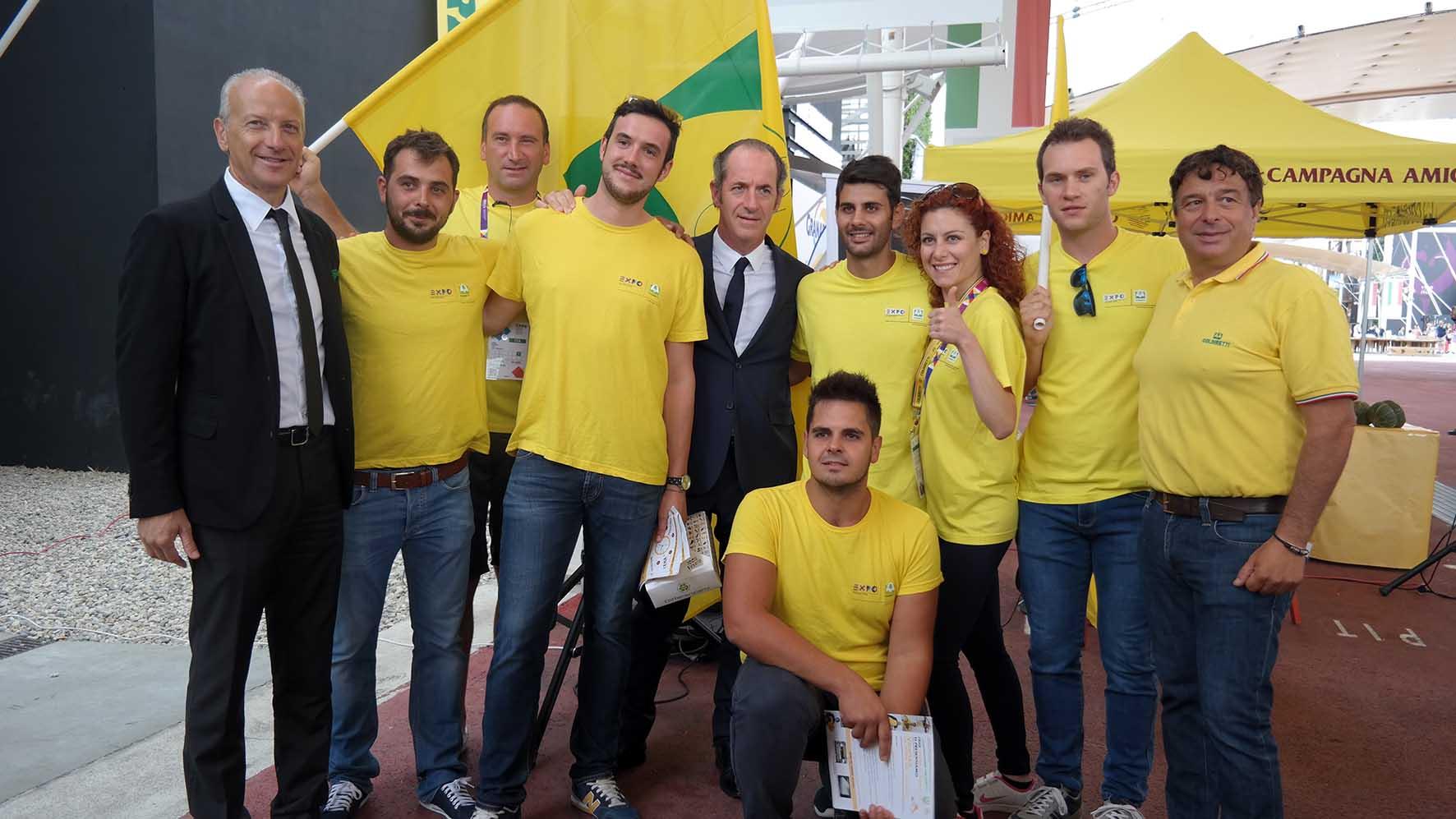 Luca Zaia e Giuseppe Pan visita padiglione coldiretti expo milano