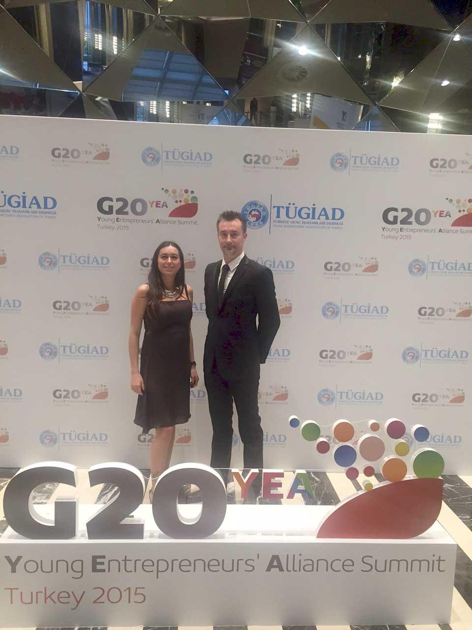 G20YEA Lia Correzzola e Matteo Tomba delegati FVG al G20YEA 2015 Istanbul