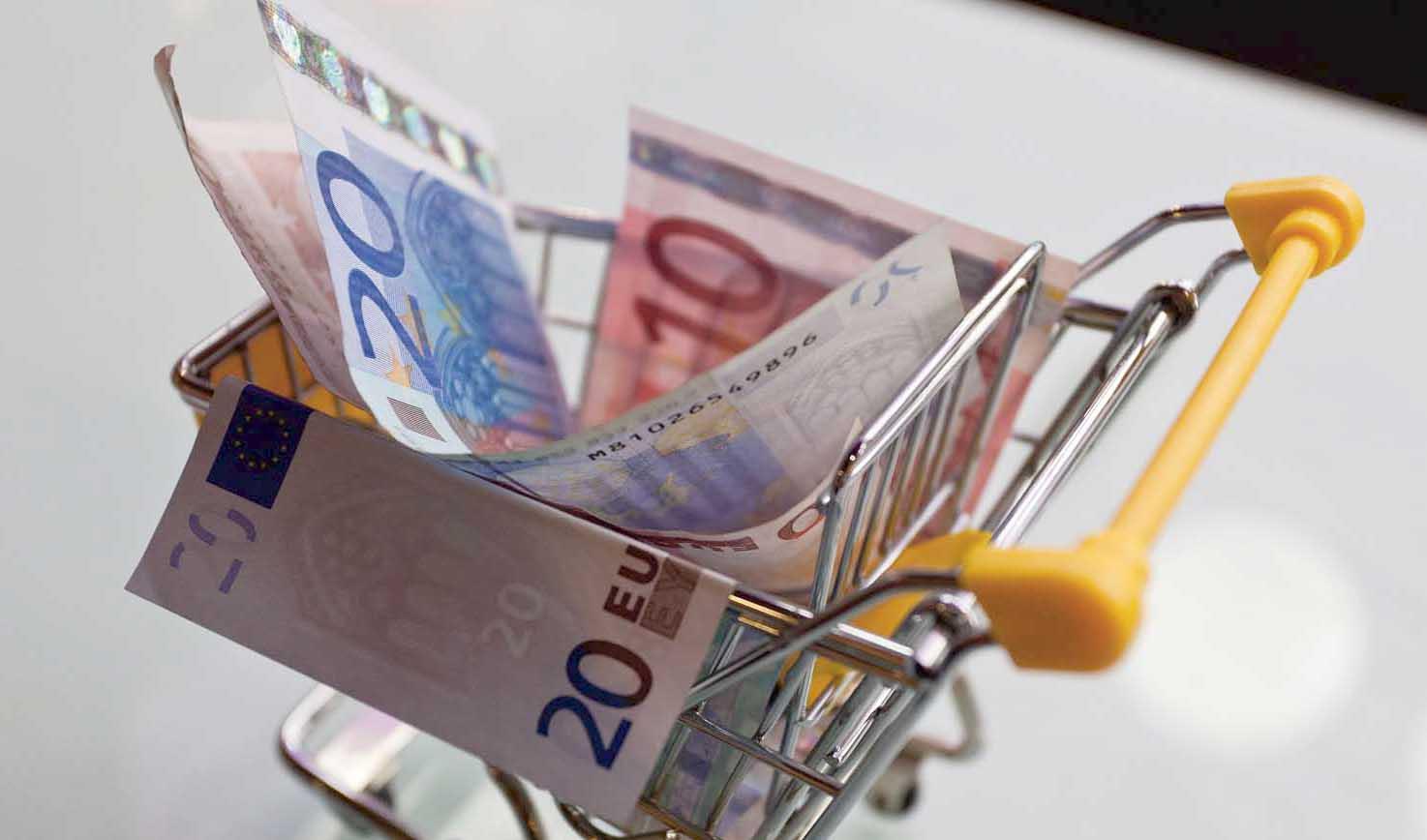 carrello spesa soldi euro