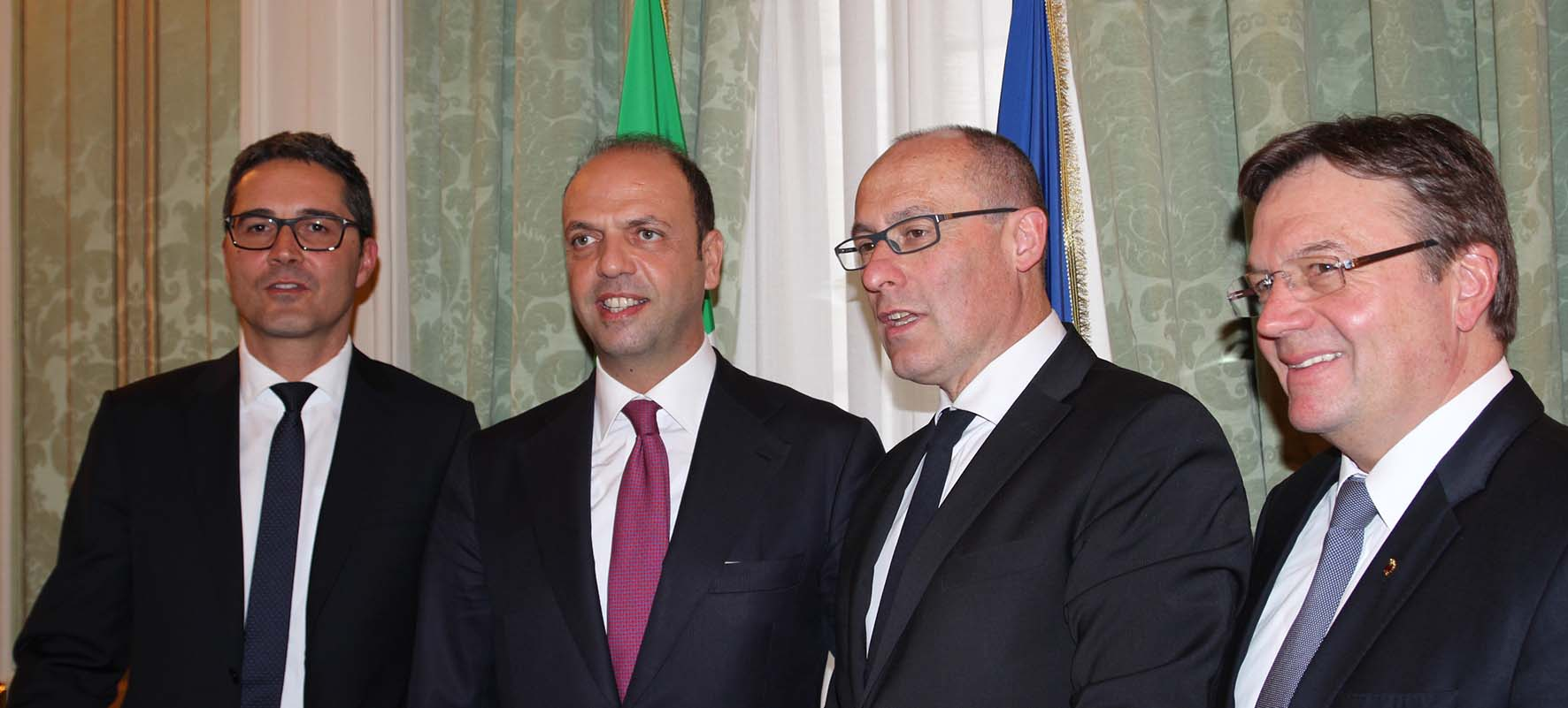 Presidenti Euregio Tirolo Kompatscher Rossi Platter incontrano Alfano a ROma