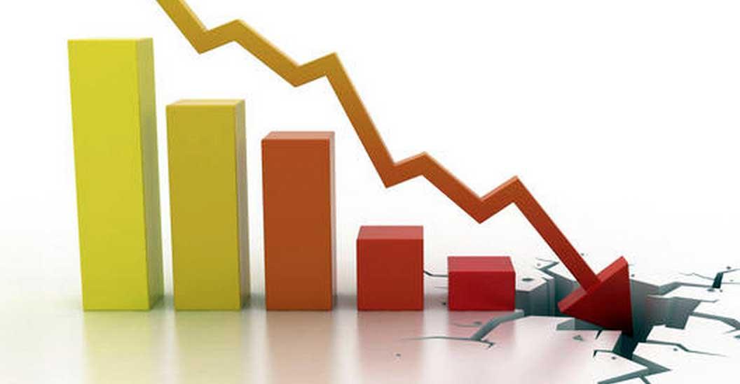 grafico indice calo rottura pavimento deflazione