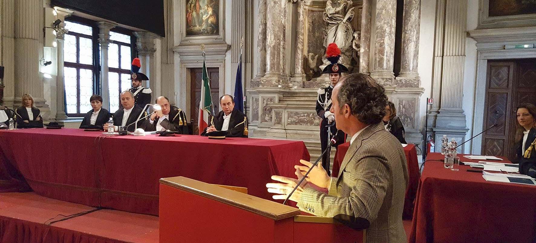 CORTE DEI CONTI Veneto inaugurazione anno giudiziario 2016 Carlino Scarano Zaia