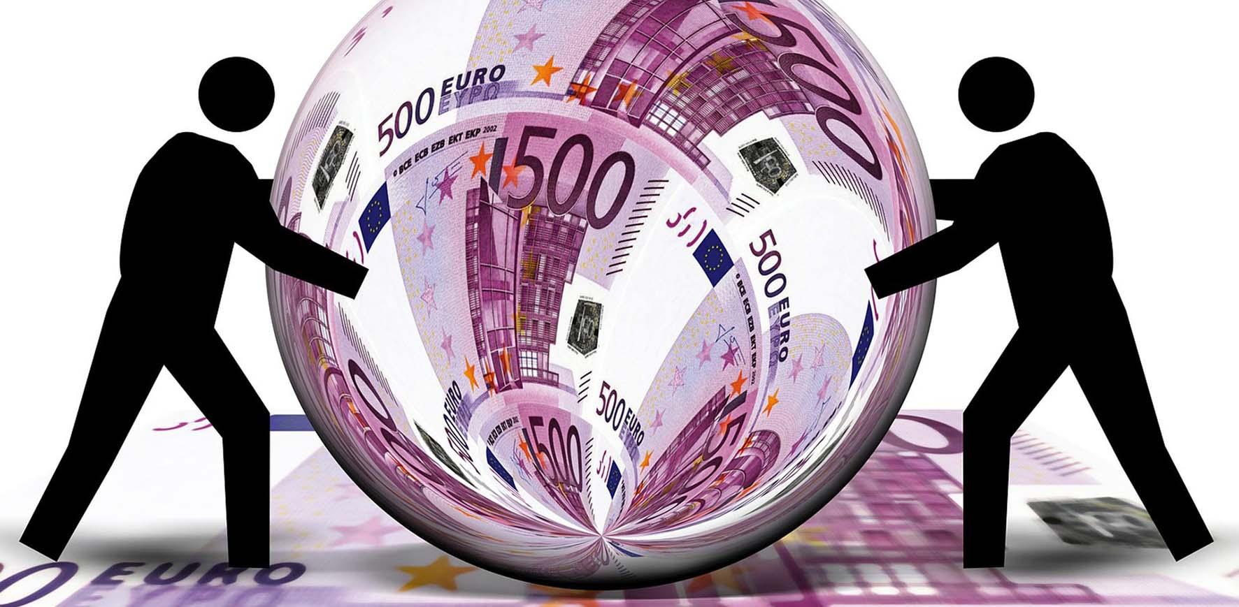 euro soldi sfera biglietto 500