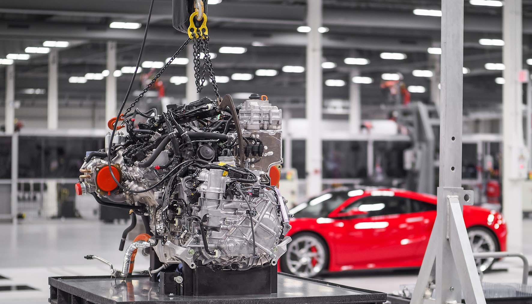 honda 2016 linea produzione nuova NSX motore V6 turbo