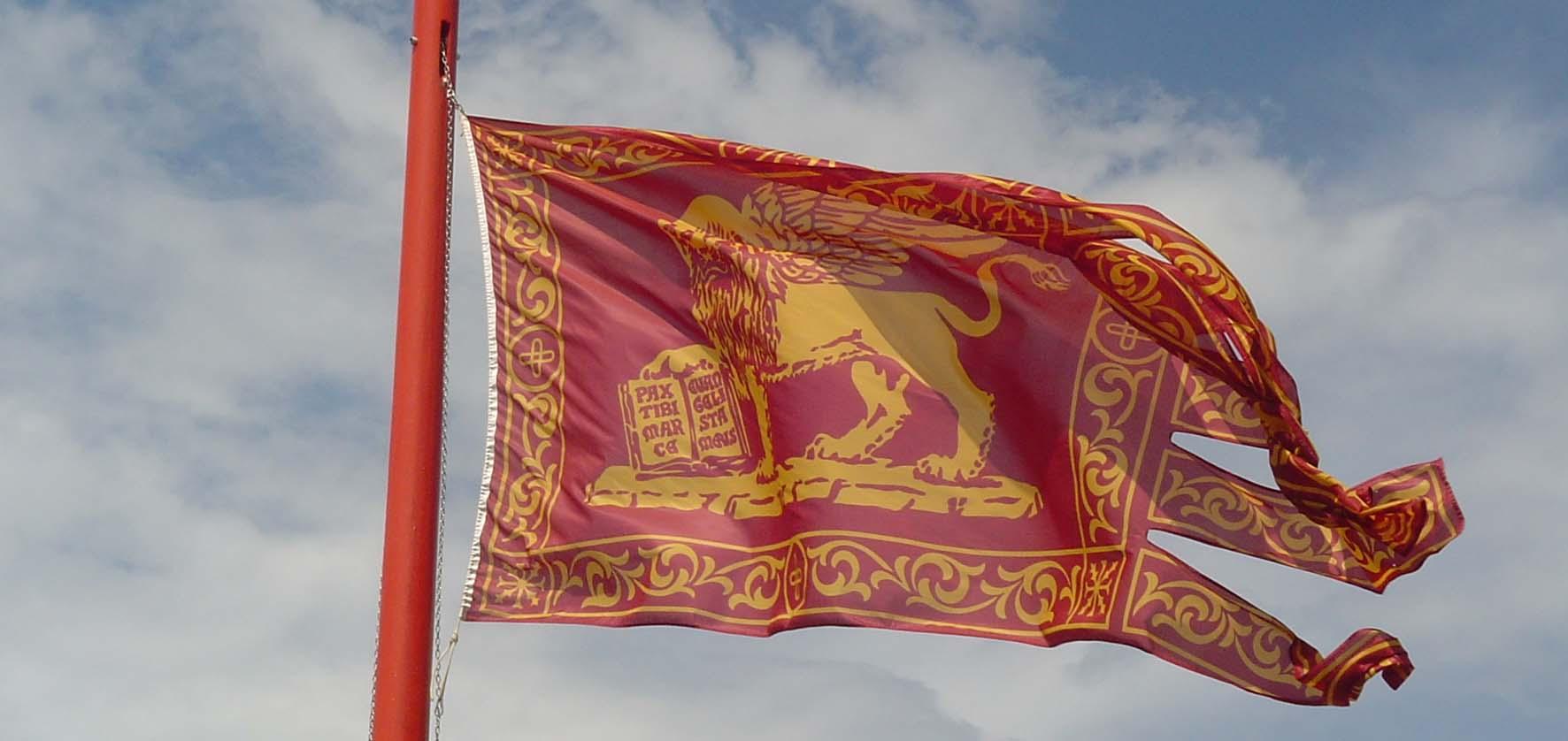 bandiera gonfalone veneto san marco leone