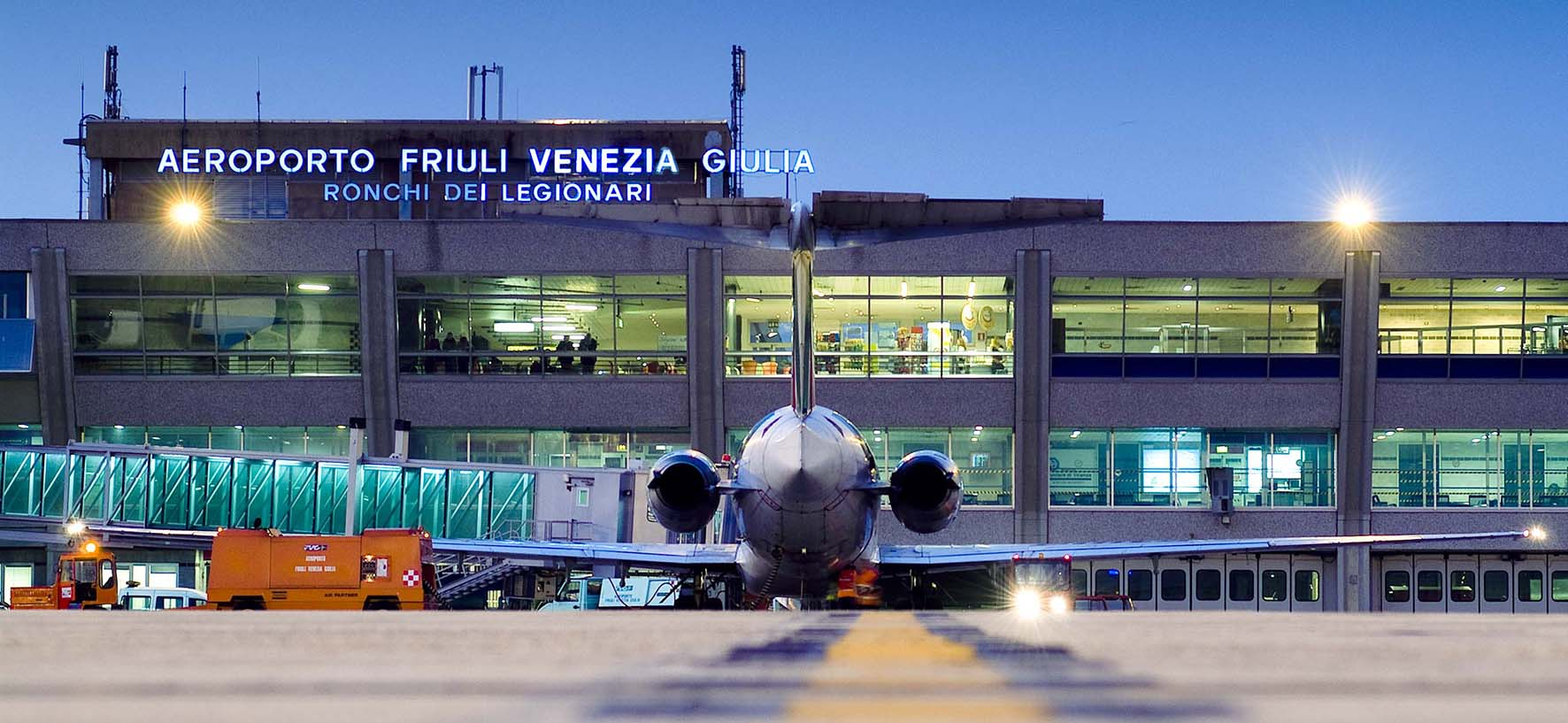 Aeroporto Trieste Ronchi legionari Veduta zona air side