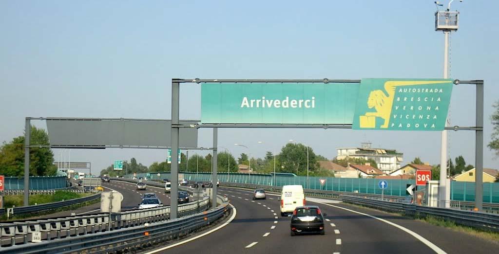 autostrada a4 brescia padova cartello