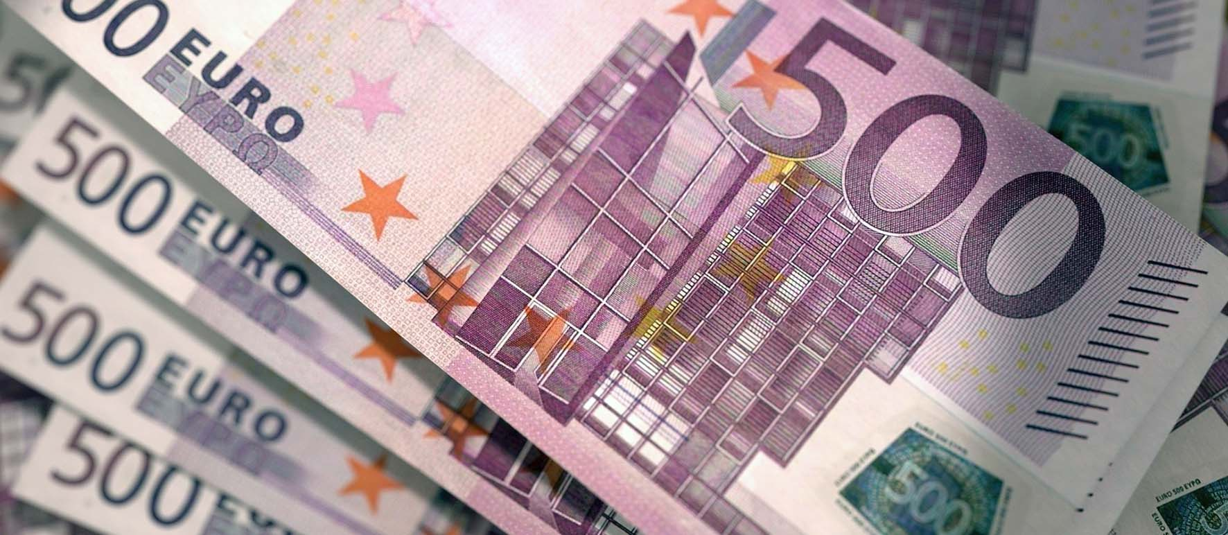 euro soldi biglietto 500 euri
