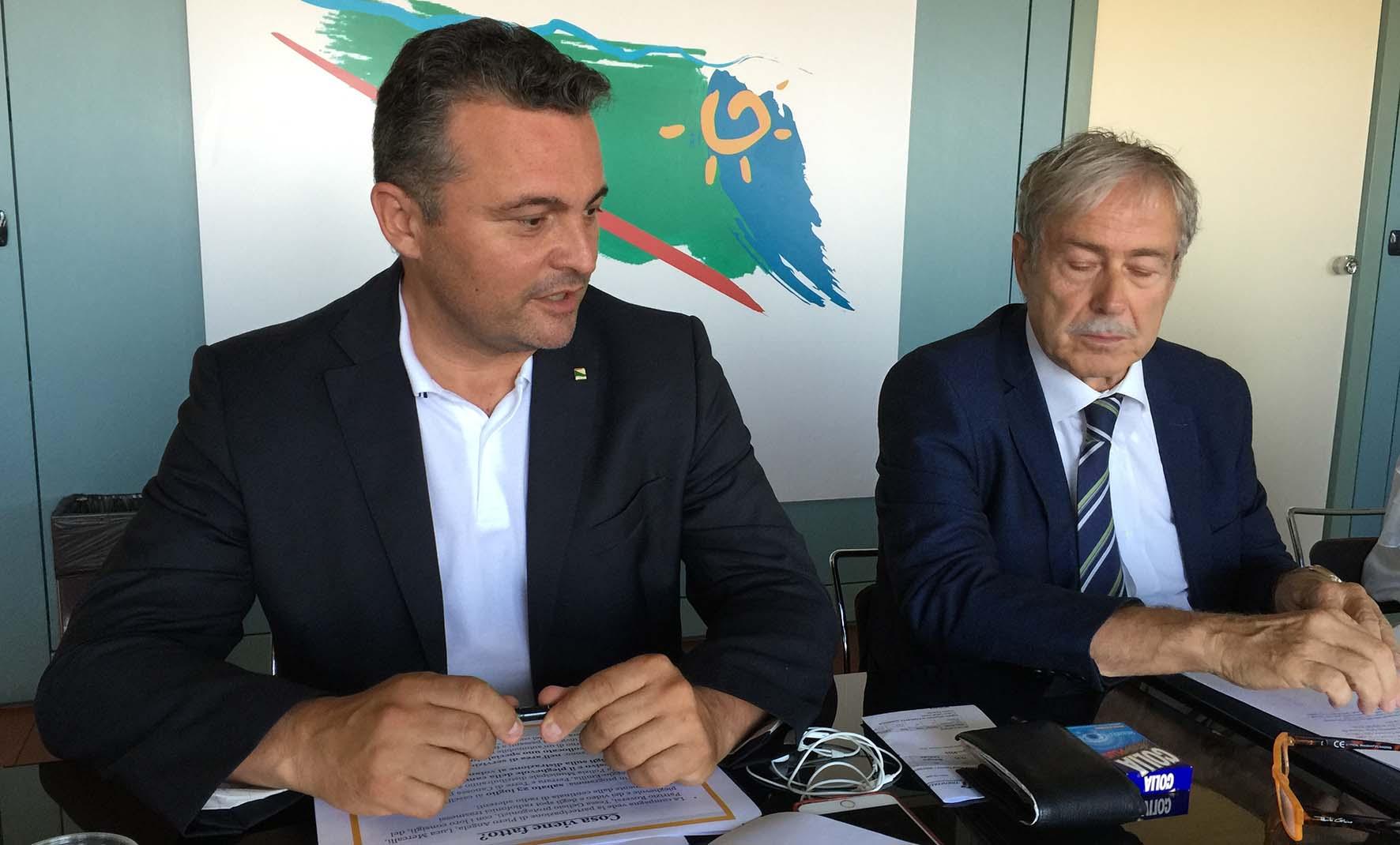 Conferenza stampa vacanze coi Fiocchi ass raffaele donini e pres osservatorio mauro Sorbi