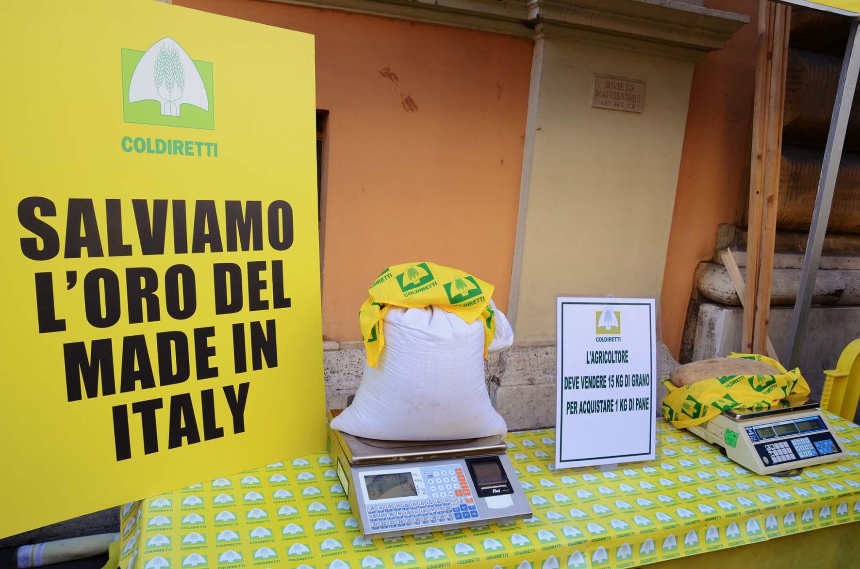 coldiretti guerra del grano manifestazione roma 1