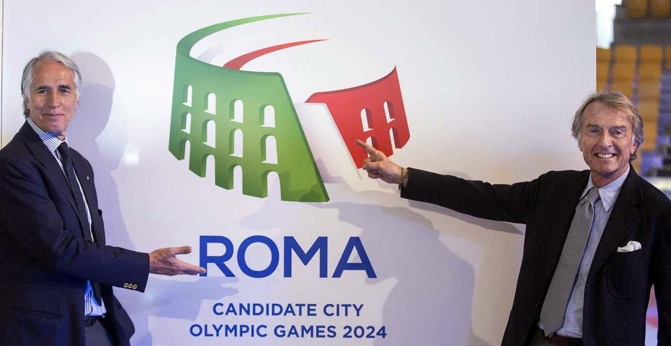 Olimpiadi Roma 2024 logo giovanni malago coni luca corero di montezemolo