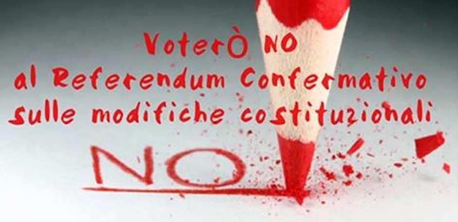 no alla riforma costituzionale