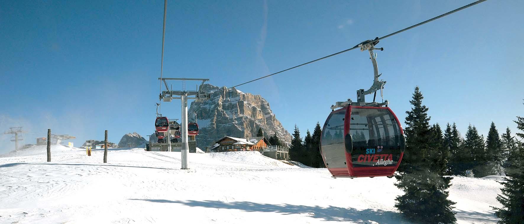 Funivia Alleghe Vista cabinovia Piani di Pezzè Col dei Baldi FotoRiva