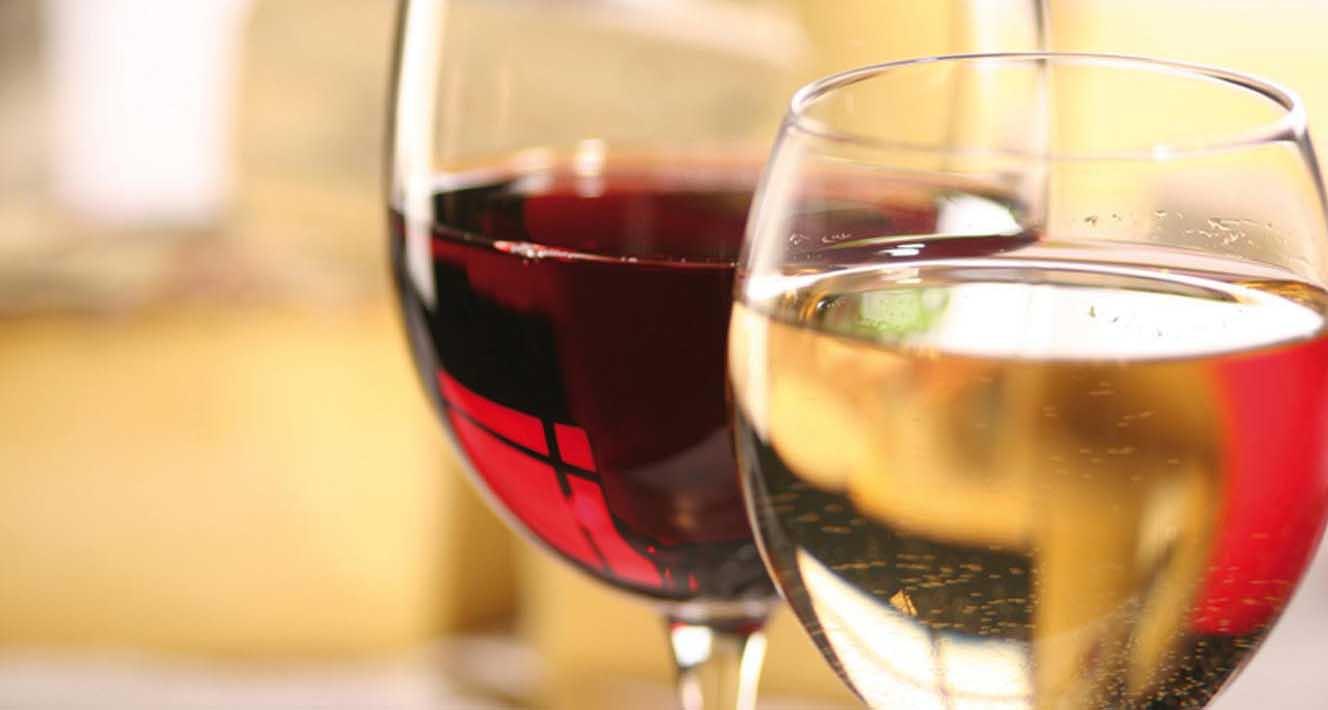 bicchieri vino rosso bianco